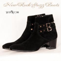 本革New RockStuzz Boots メンズブーツ