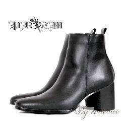 PUブーツ・RolandModel Boots Black/ヒールブーツ