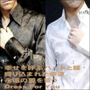 NewConsavativDressShirt・光沢生地シャツ・ドレスシャツ