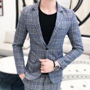 NewCheckSuitスーツ最新デザインタイトチェックスーツ