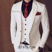 NewWhite Prince 3p Suit,ホワイトスリーピーススーツ