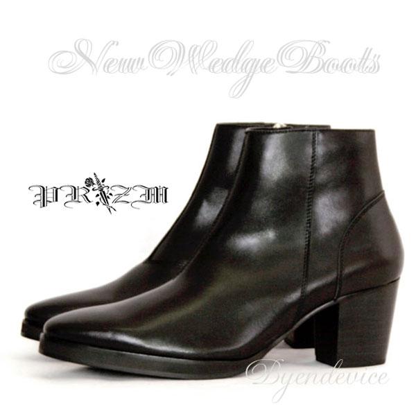 New Wedge Heel Boots メンズブーツ