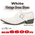Vintage Whiteドレスシューズ
