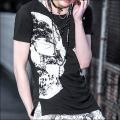 タンクトップ付き・Civarize  Skull・T-Shirt(シバライズドレープTシャツ)半袖Tシャツ
