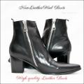 本革ブーツ・New Leather Boots ヒールブーツ
