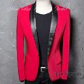 NewREDTuxedJK 最新デザイン/赤いジャケット/パーティージャケット