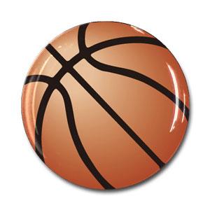 ボール柄 樹脂シール バスケットボール