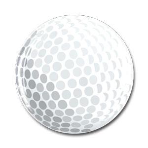 ボール柄 樹脂シール ゴルフボール