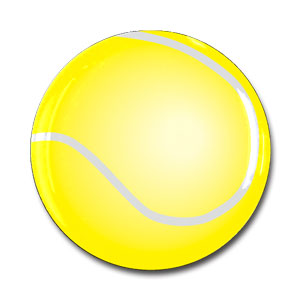 ボール柄 樹脂シール テニスボール