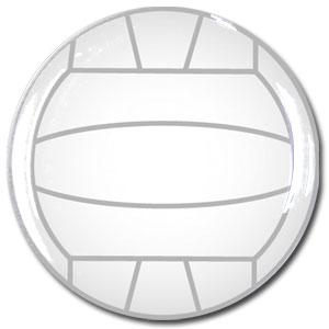 バレーボール 白 シール