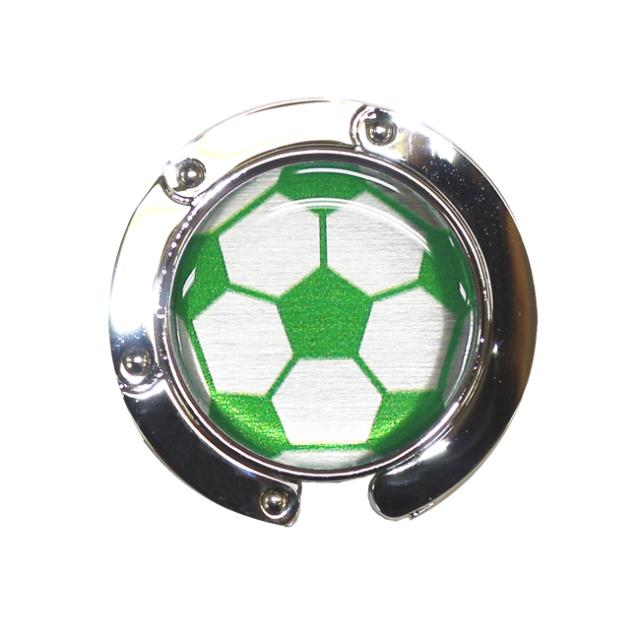 バッグハンガー 野球ボール柄【グリーン(緑/銀)】
