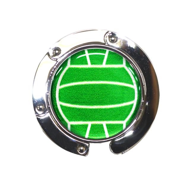 バッグハンガー バレーボール柄【グリーン(緑/銀)】