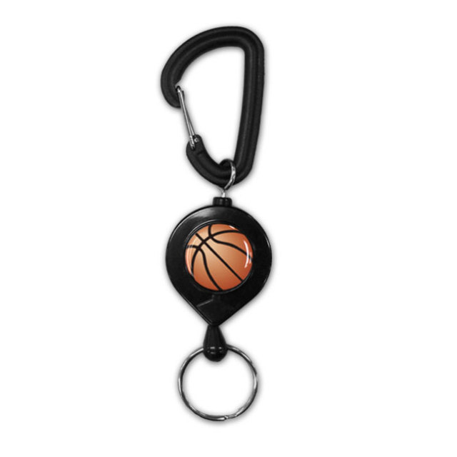 黒リールキーホルダー バスケットボール