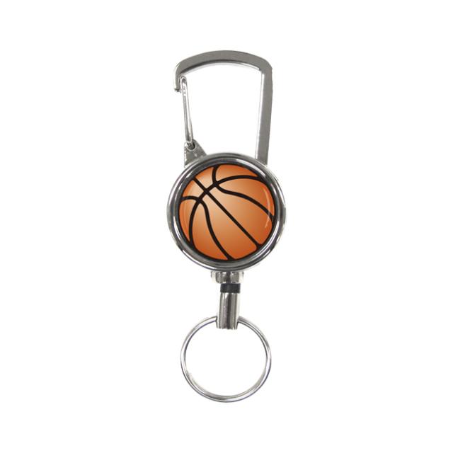 シルバーリールキー バスケットボール柄