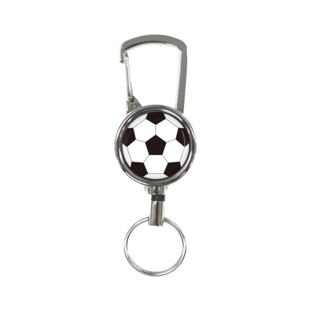 シルバーリールキー サッカーボール柄
