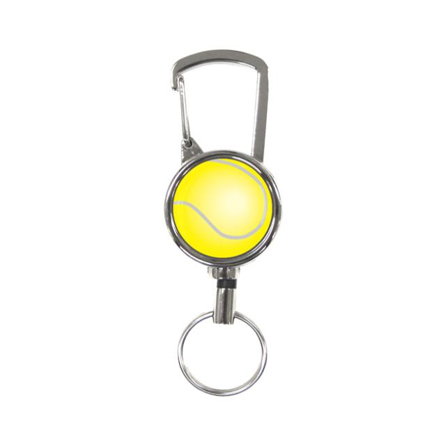 シルバーリールキー テニスボール柄