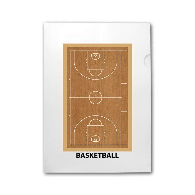 A4 クリアファイル バスケットボール柄