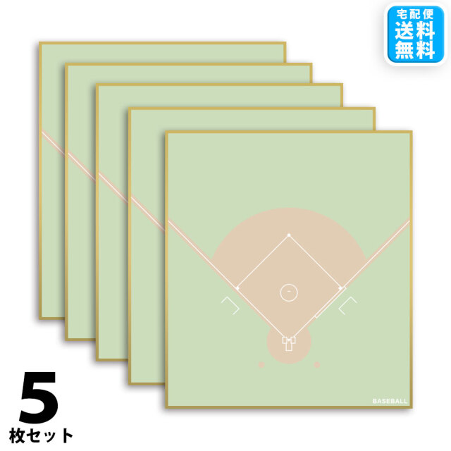 野球色紙 5枚セット 宅配便送料無料