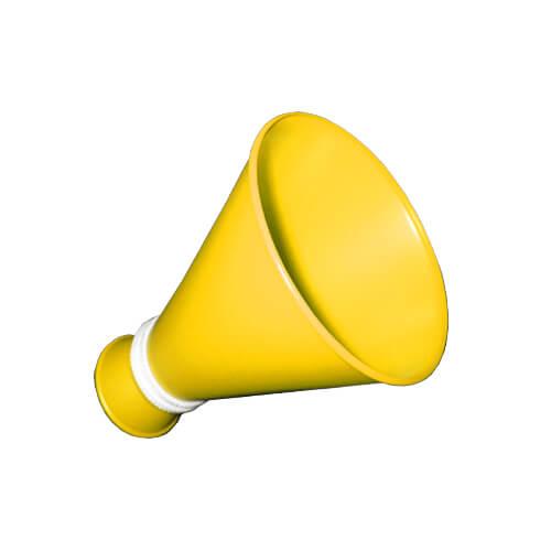 ミニメガホン 黄色