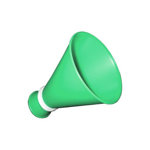 ミニメガホン 緑