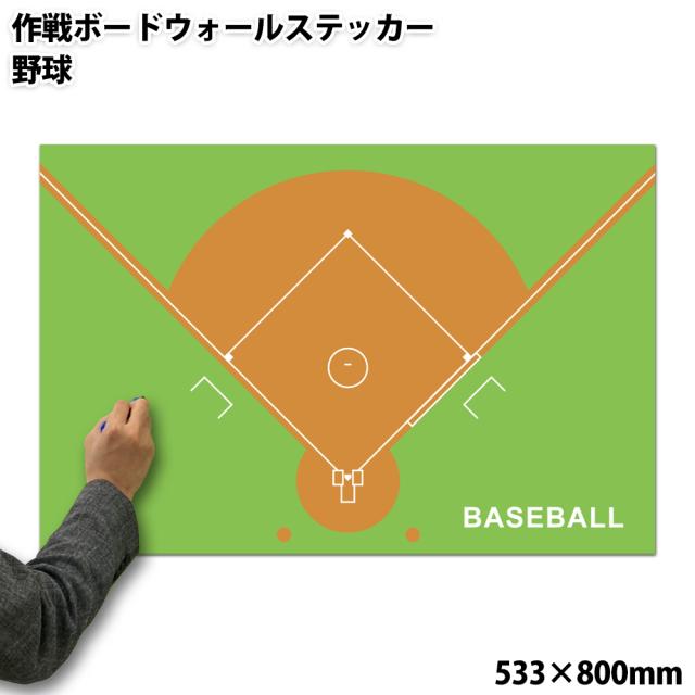 作戦ボードウォールステッカー 野球