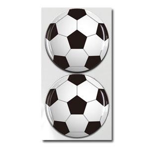ボール柄 樹脂シール サッカーボール