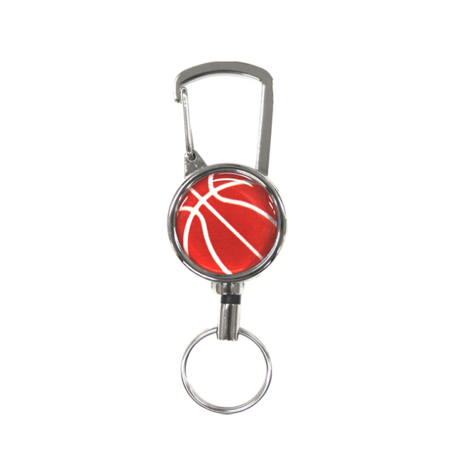 シルバーリールキー バスケットボール柄 レッド(赤銀)商品