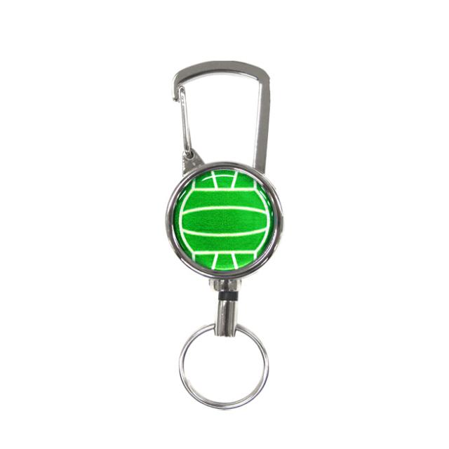 シルバーリールキー バレーボール柄 グリーン(緑銀)商品