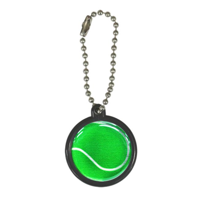 ストラップ テニスボール柄【グリーン(緑/銀)】