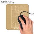 革製マウスパッド バスケットボールコート柄