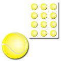 樹脂シール・テニス