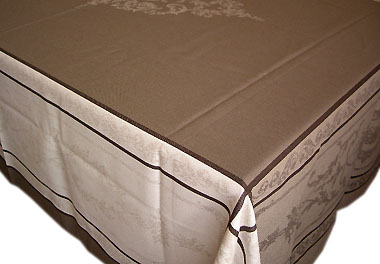 プロヴァンステーブルクロスジャガード織りテフロン撥水加工(モンミライユ・トープ)全5サイズ【フランス】 NAP_20_126e