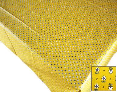 プロヴァンスプリントテーブルクロス撥水加工(カマルグ・イエロー)150×200cmサイズ【フランス】 NAP_20_163e