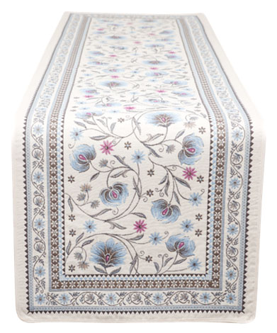 ジャガード織テーブルランナー50×170cmサイズ(SILLANS シヤン・全2色) CHM_45  【フランス】