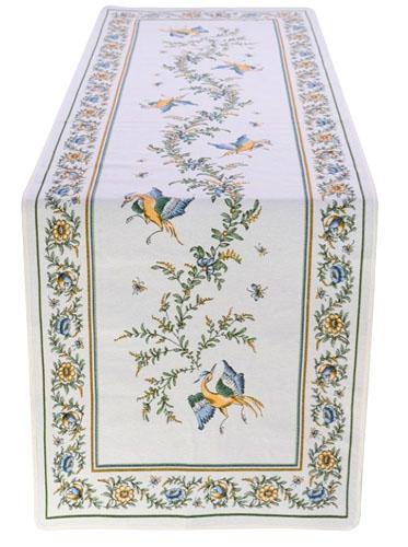 ジャガード織テーブルランナー50×170cmサイズ(ムスティエ) CHM_53 【フランス】