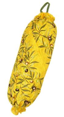 プロヴァンス柄ビニール袋・レジ袋ストッカー(オリーブ2005・オレンジイエロー)SAC_S62