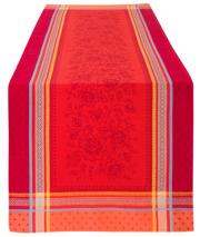 ジャガード織りテフロン撥水加工テーブルランナー50×160cmサイズMarat d'Avignon マラダヴィニョン(マッシリア・レッド)【フランス】CHM_JCQ09