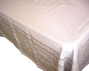 プロヴァンステーブルクロスジャガード織りテフロン撥水加工(モンミライユ・ナチュラル)全5サイズ【フランス】 NAP_20_188e