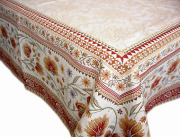 正方形テーブルクロス:トップクロスジャガード織り145×145cmサイズ(SILLANS)【フランス】NAP_C78::他サイズお取り寄せ可能