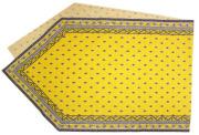 6角形フレームテーブルランナー45×150cmサイズ(ミレイユフォイユ・イエロー)CHM_P33 【フランス】