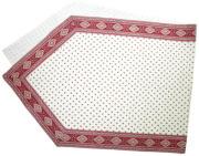 6角形フレームテーブルランナー45×150cmサイズ(エストレル・オフホワイト×ボルドー)CHM_P37 【フランス】