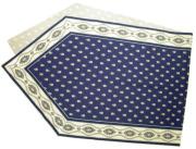 6角形フレームテーブルランナー45×150cmサイズ(ミレイユメダイユ・ネイビーブルー)CHM_P38 【フランス】