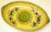 グラタン皿オーバルミディアム(オリーブB)GRT_MM01