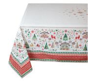 クリスマスプリントテーブルクロス撥水加工(Cervin セルヴァン) ノルディック柄全4サイズ 【フランス】 NAP_25_368e