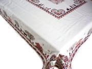 正方形テーブルクロス:トップクロス140×140cmサイズジャガード織り(PLAGNE)【フランス】ノルディック柄 NAP_C65