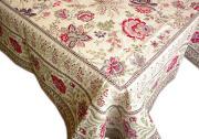 正方形テーブルクロス:フレームクロス:トップクロスジャガード織り145×145cmサイズ(GARANCE・全3色)【フランス】NAP_C68::他サイズお取り寄せ可能