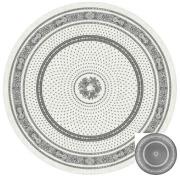 ラウンド・円形テーブルクロス丸テーブル円卓用ジャガード織りテフロン撥水加工直径230cmサイズ【リバーシブル】Marat d'Avignon マラダヴィニョン(バスティード・グレー)【フランス】NAP_R171e