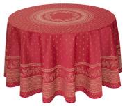 ラウンド・円形テーブルクロス丸テーブル円卓用ジャガード織りテフロン撥水加工直径230cmサイズ【リバーシブル】Marat d'Avignon マラダヴィニョン(デュランス・ボルドー)【フランス】 NAP_R232e