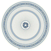 ラウンド・円形テーブルクロス撥水加工丸テーブル円卓用直径180cmサイズ Marat d'Avignon マラダヴィニョン(バスティード・オフホワイト×ブルー)【フランス】NAP_R262e