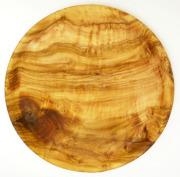 オリーブウッドのプレート(丸皿) ASS_OLV23